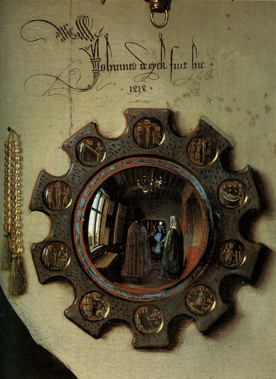 Cave to Canvas, Detail from the Arnolfini Portrait - Jan van Eyck,...