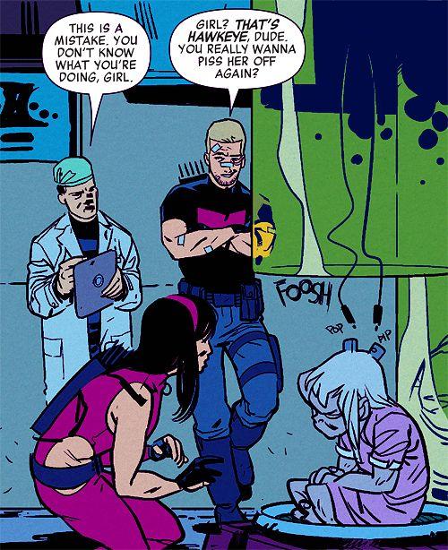 "Kate Bishop: Hawkeye. I love that Click NT said she's ""Hawkeye."" Not a Hawkeye, kid Hawkeye, or lady Hawkeye, just Hawkeye"