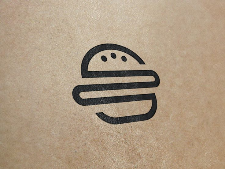This reminds me of the single line drawings we did at the beginning of class. You can see the form of the hamburger even though it is made up of one line and 3 dots