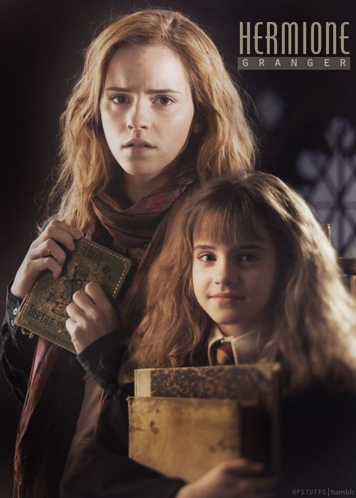 Hermione  My favorite character. She is the brains and the heart of the story