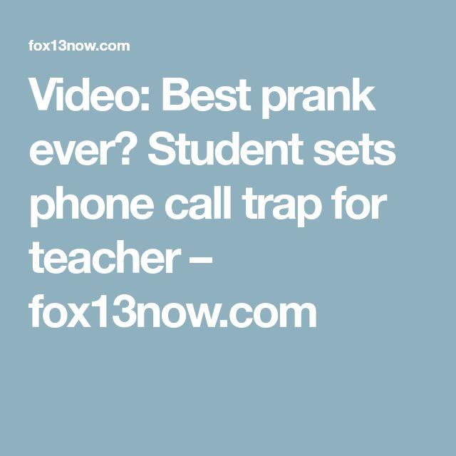 Video: Best prank ever? Student sets phone call trap for teacher – fox13now.com