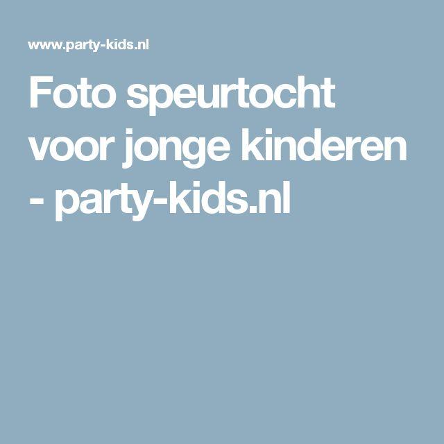 Foto speurtocht voor jonge kinderen - party-kids.nl