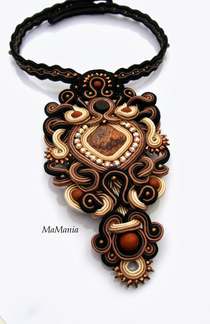 #soutache necklace