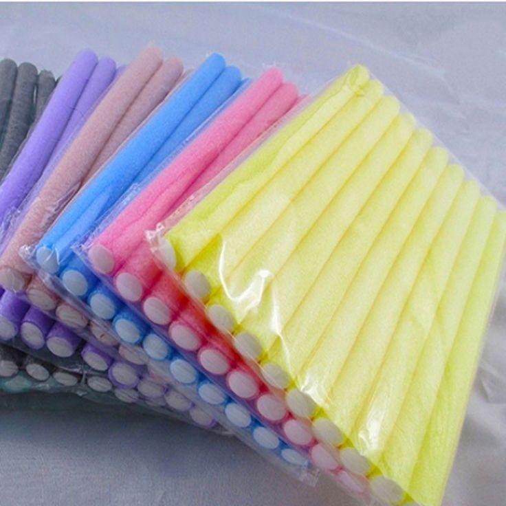 Newest 10 Pcs Soft Foam Bendy Twist Curler Sticks DIY Hair Design Maker Curl Roller Tool  Hair Rollers
