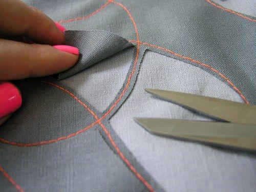 misturar materiais e costurar