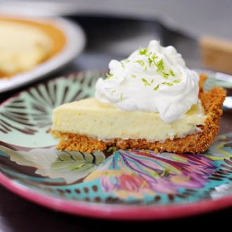 Strict Key Lime Adherents: Please look away. I haven't got time for the pain. Everyone else: Let's make Key Lime Pie! Using regular limes! Because that's all I have available in my small town! And ...