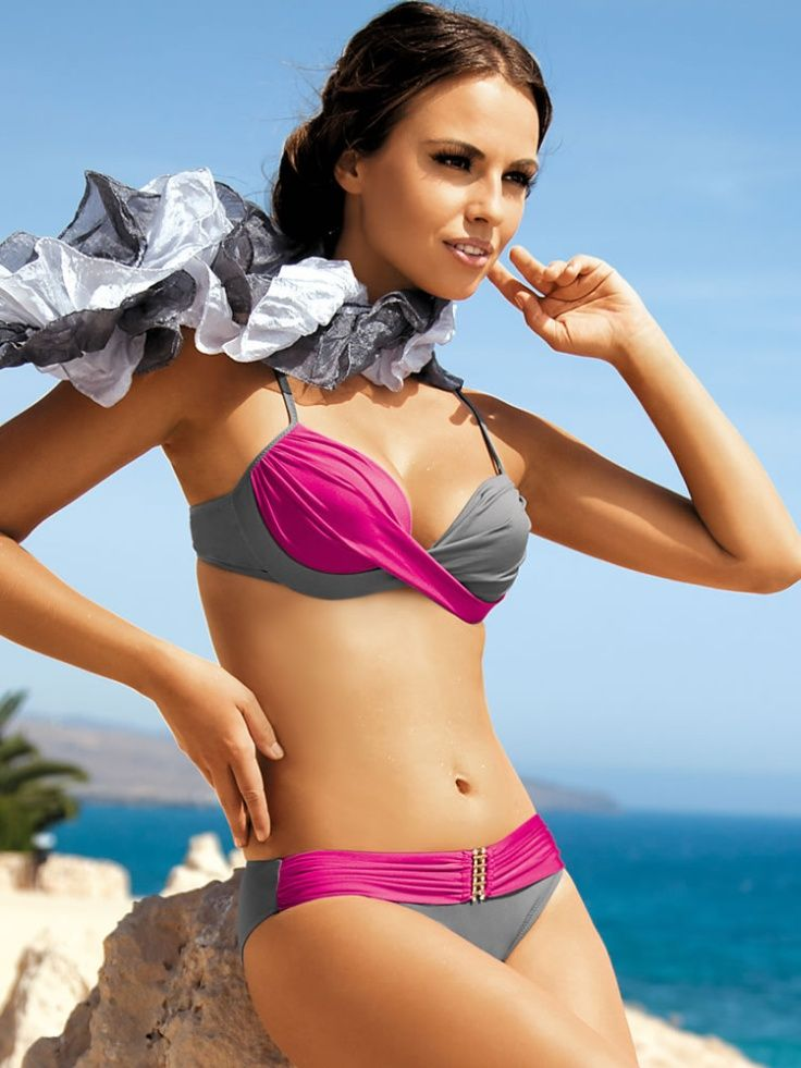 Push-Up Underwire Two Piece Swimwear Bikinis 2013 I need to figure out where to get this!