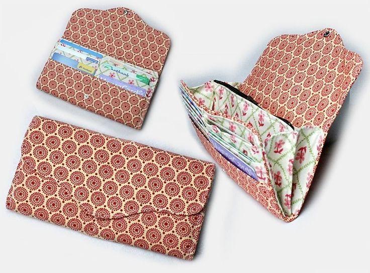 Nähanleitung Portmonee Lotte – Geldbörse nähen - Schnittmuster und Nähanleitungen bei Makerist