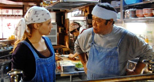 "Maezumi (Toshiyuki Nishida): ""A bowl of ramen is a self-contained universe with life from the sea, the mountains, and the earth. All existing in perfect harmony. Harmony is essential. What holds it all together is the broth. The broth gives life to the ramen."" -- from The Ramen Girl (2008) directed by Robert Allan Ackerman"