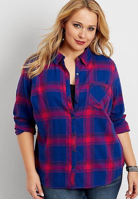 Hollister Womens Flannel Shirts