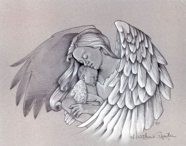 angel tattoos for women | angel holding a baby tattoo – Rate My Ink – Tattoo Pictures …