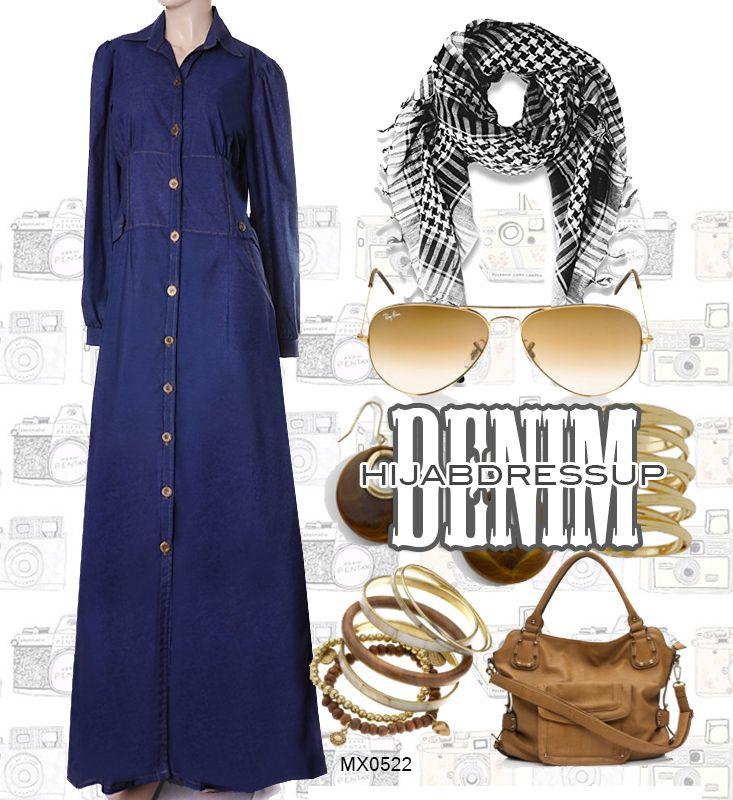 #Hijab #Abaya #Dress #Denim #HijabDressUp