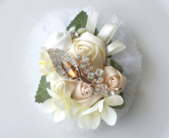 Wrist CorsageProm CorsageBridal Flower by TheTossedBouquet on Etsy