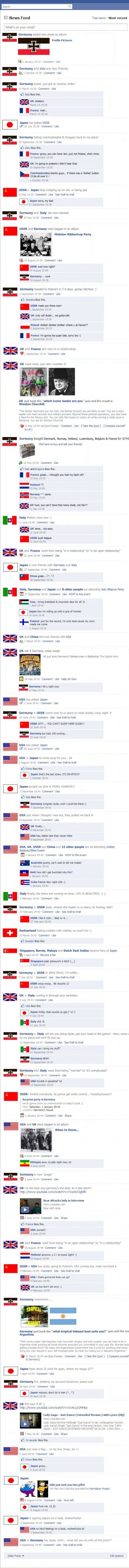 WWII on Facebook: If this is how they taught history in school I might have paid more attention...