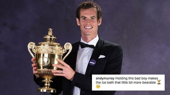 Andy Murray wins Wimbledon has the best ice bath ever