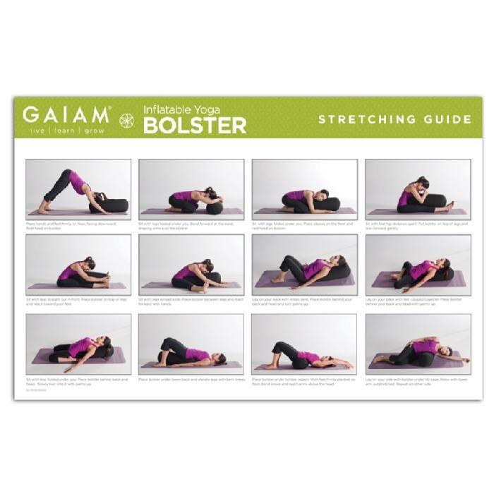 Gaiam Inflatable Yoga Bolster | Healthy Lifestyles | Pinterest