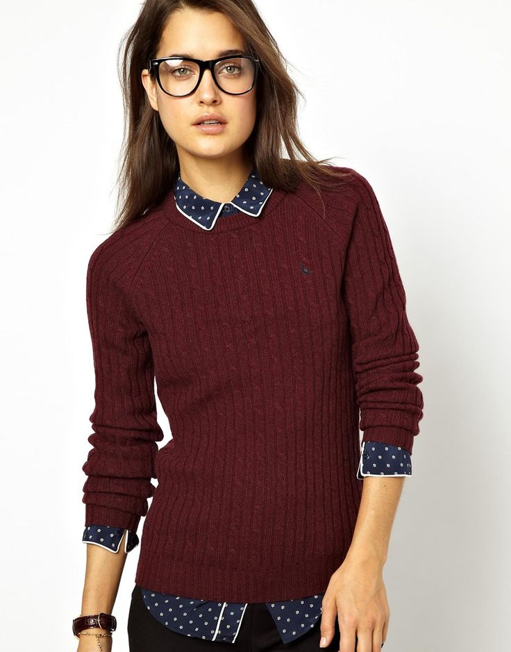 :Jack Wills Cable Knit Jumper