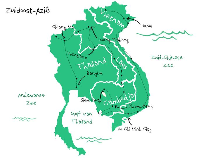 Route Zuidoost Azie