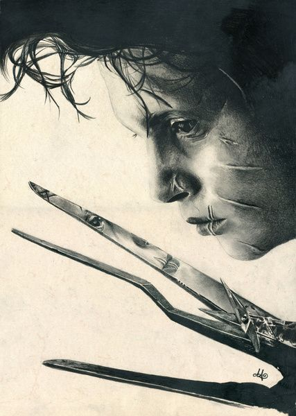 Edward Scissorhands ~ Johnny Depp Traditional Portrait Print Art Print