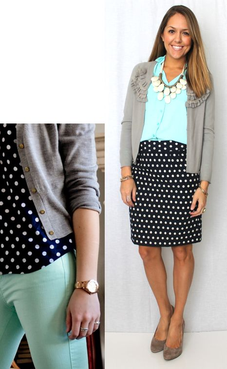 Today's Everyday Fashion: Navy Polka Dots — J's Everyday Fashion