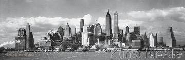 Anonymous - Manhattan Skyline, NY City 1940