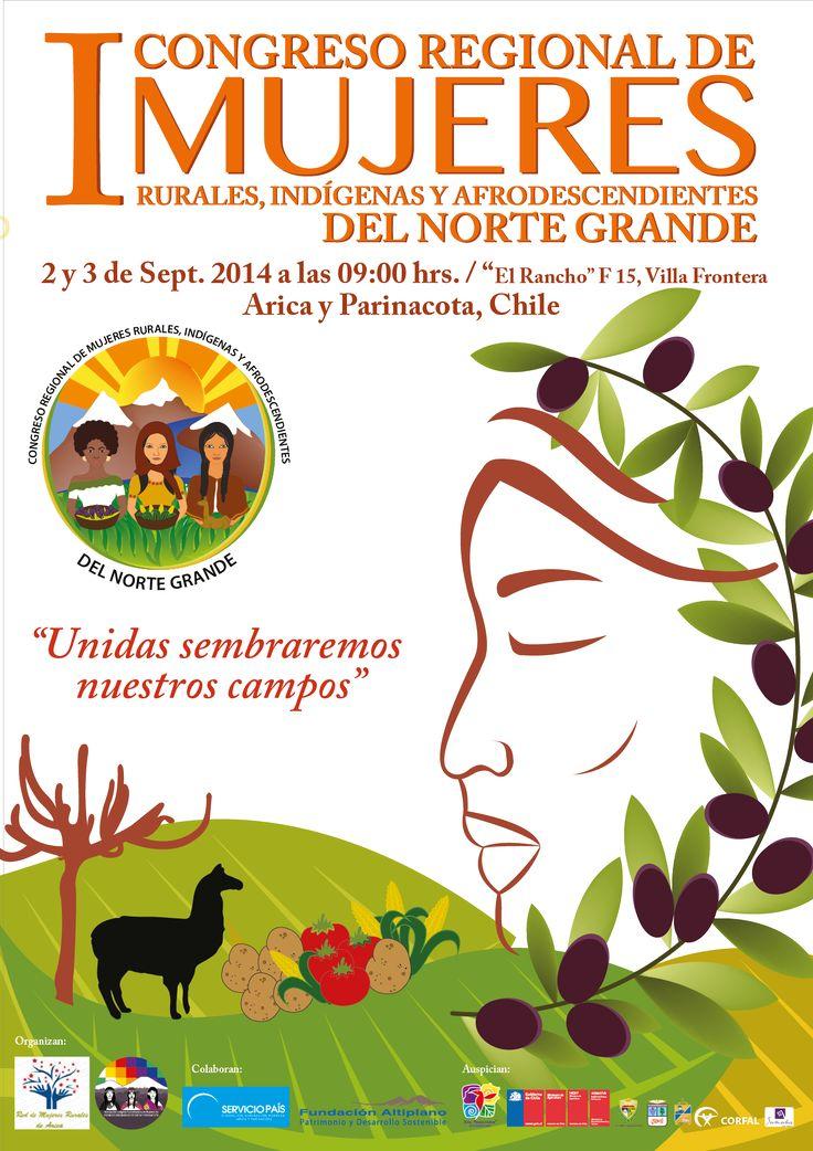 Afiche para Encuentro de mujeres del norte grande Año: 2014