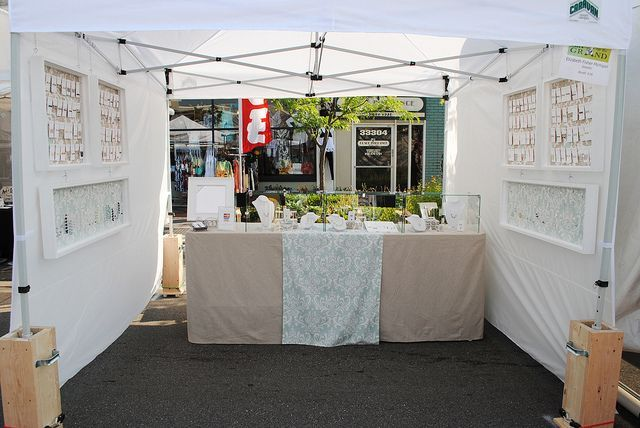 Walls on the sides only | Outdoor Craft Fair Booth Ideas You've Never Thought Of - Creative Income