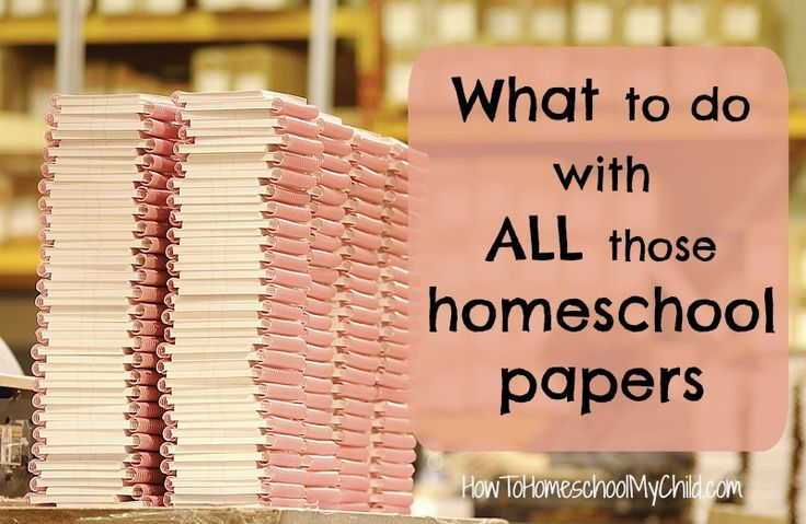 what to do with all those homeschool papers-exams-worksheets from HowToHomeschoolMyChild.com