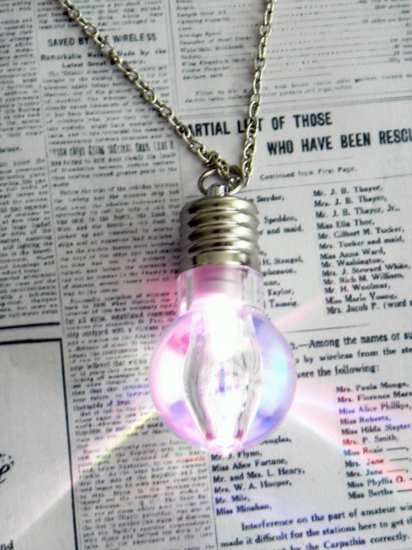 "Ketting ""Light Bulb"" | Fun Kettingen | sieradenkistje.nl"
