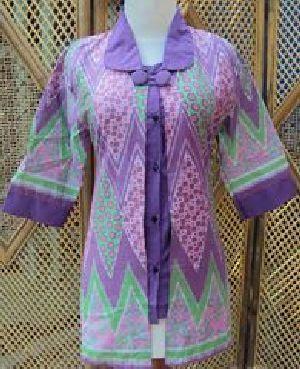 Blus Batik Sistar Ungu Bahan katun, batik printing, ukuran lingkar dada 90-100cm