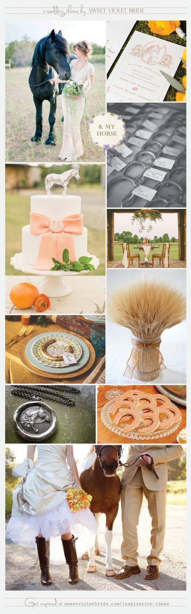 Wedding Inspiration Board: Equestrian Wedding - Horse Theme