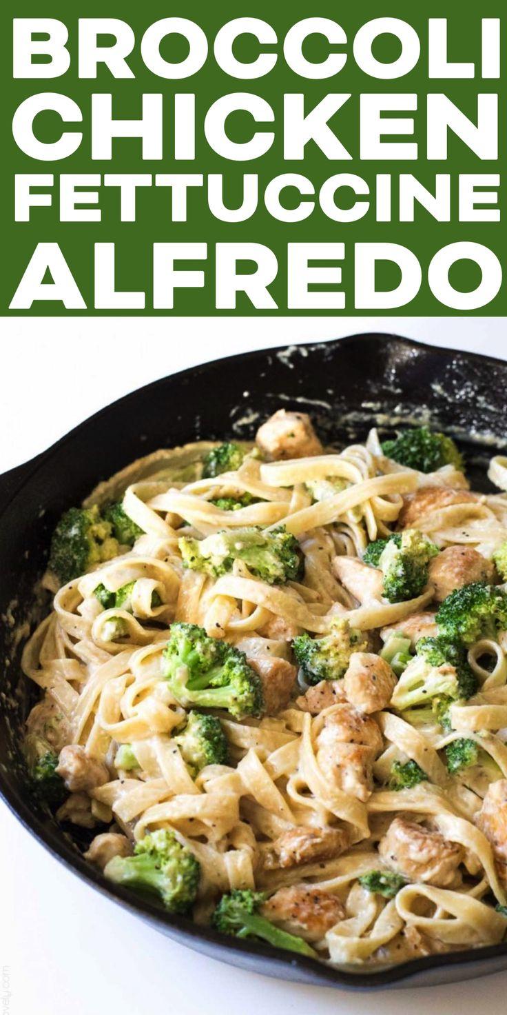 Broccoli Chicken Fettuccine Alfredo - A Quick 30 Minute -5249