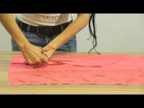 How to make a long sleeve lace cardigan