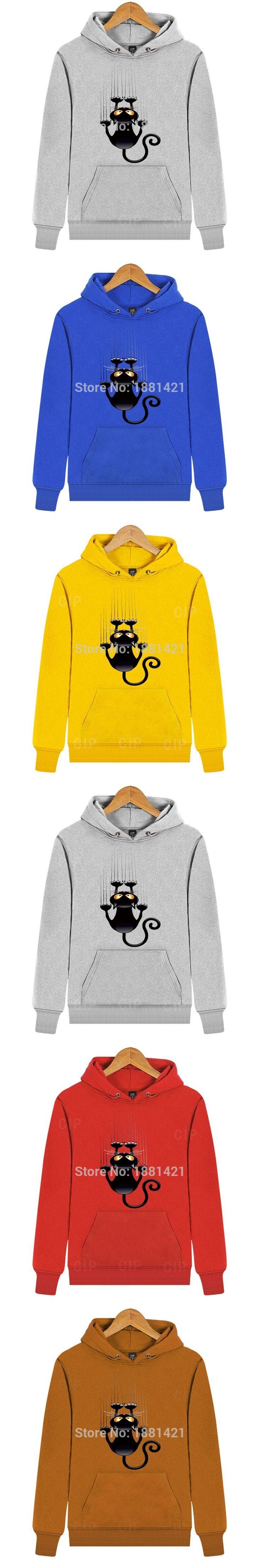 Fleece For Winter Autumn Mens Sweatshirt Hoody 3D Cat Print Hoodie Men Cotton Sweatshirts Male Casual Pullover Men Hoodies CFH68