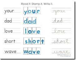 read it. stamp it. write it. worksheets are based on the spelling ...