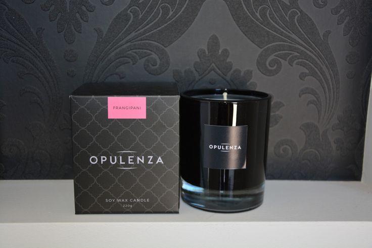 Frangipani scented candle