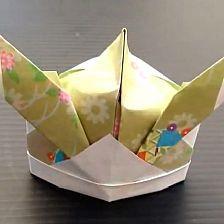 Origami samurai hat making simple origami tutorial