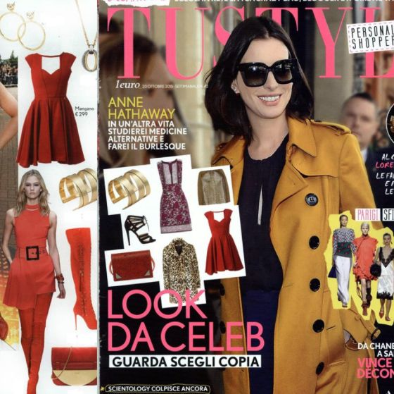 """Look da Celeb"" Mangano on the cover of TU Style Mini Red Dress ""Sixteen"" >> available in our stores and online: http://shop.mangano.com/it/410-abiti"