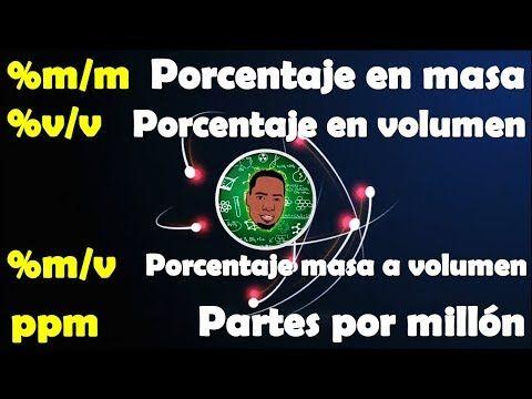 Unidades físicas de la concentración #Química #yamilcordoba Porcentaje en masa Porcentaje en volumen Porcentaje masa/volumen Partes por millón YouTube
