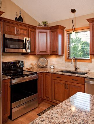 The Cabinet Store Worked With These Minnesota Homeowners To Choose A Cherry Showplace  Kitchen Featuring Our