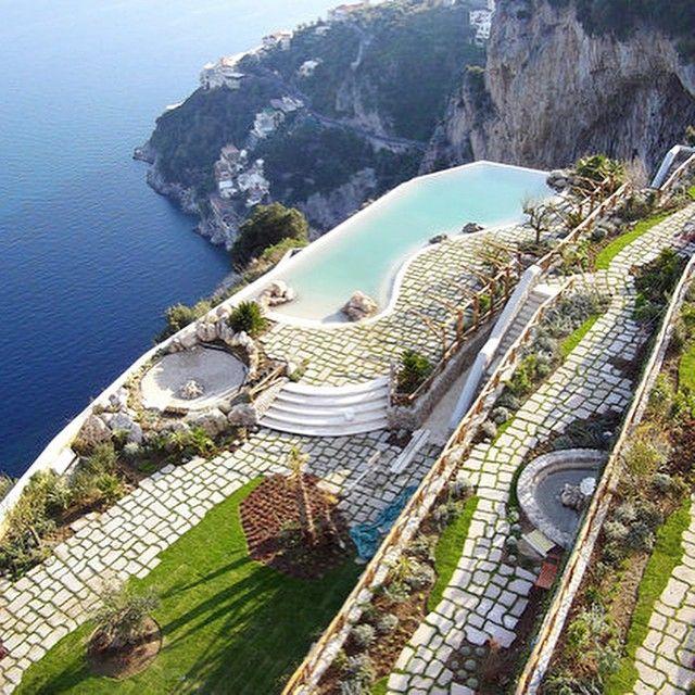 The Cliffside Infinity Pool Overlook the Sea : Experience Monastero Santa Rosa & Spa on Italy's famous Amalfi Spa on the Amalfi Coast . #Travel #Escape #MonasteroSantaRosa #SantaRosa #Spa #Dolcevita #AmafiCoast #Italy #Beauty #Treasure #Discovery #Infinitypool  #Digital #Influencer #Gentleman #Inspiration #Manwithstyle #StyleForMen #ManoftheWorld #Follow #GentlemanModern