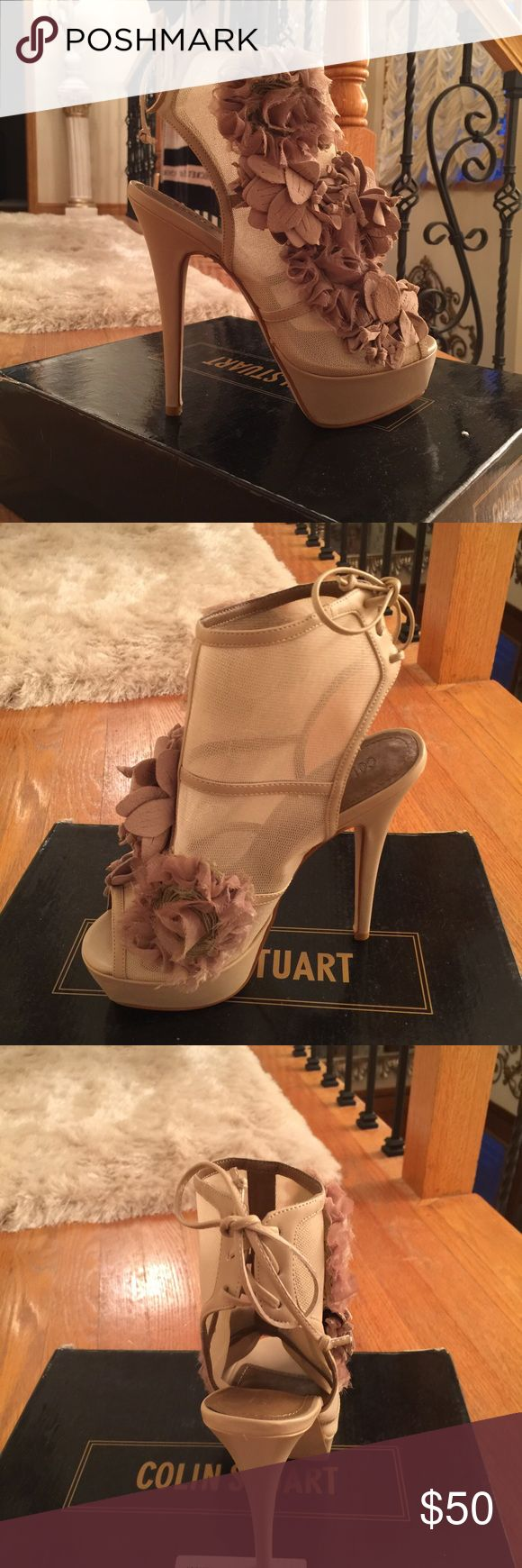 Victoria's Secret Colin Stuart Nude heels Never worn!!! Size 6. Very fashionable. Vs Colin Stuart heels Colin Stuart Shoes Heels