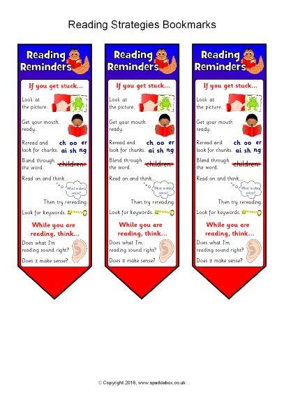 Reading Strategies Bookmarks (SB11512) - SparkleBox