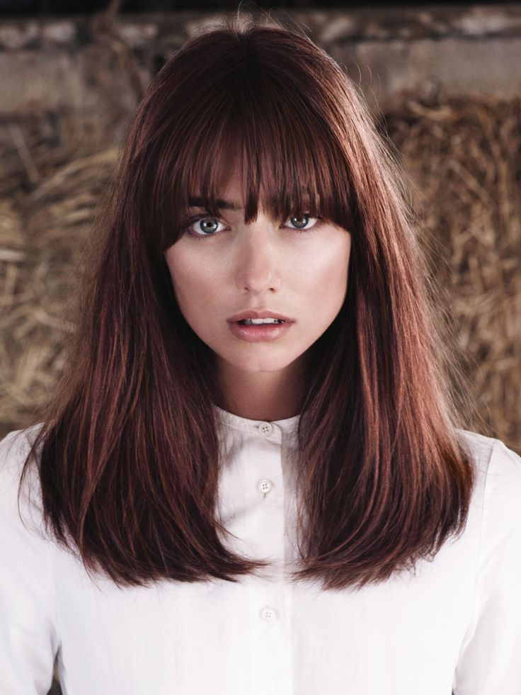 Hairstyles with bangs classic   – Schulterlange Haar