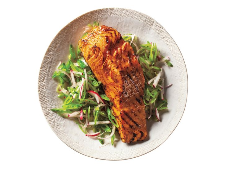 Barbecue Salmon and Snap Pea Slaw | Maintaining a healthy weight or trying to lose a few pounds ultimately revolves around the science of counting calories. It's a tedious task to tabulate every morsel you put in your mouth, but there's a simpler and much more flexible strategy: Start a file of skinny recipes. Use this collection of low-calorie dinners as a starting point. As always, taste comes first, so we've pulled together our best recipes that are big on flavor and in step with all the…