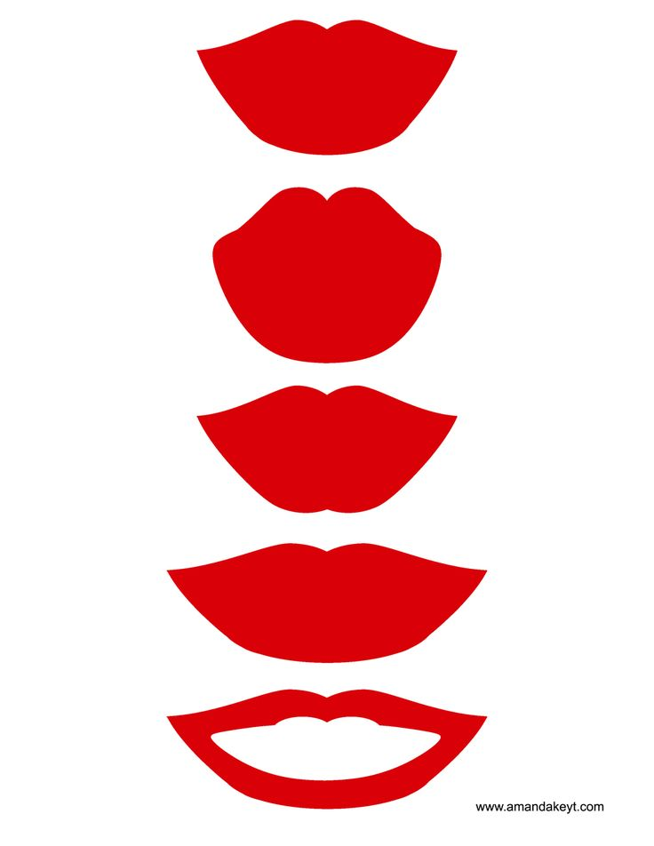 Lips from Wedding Red Black Printable Photo Booth Prop Set