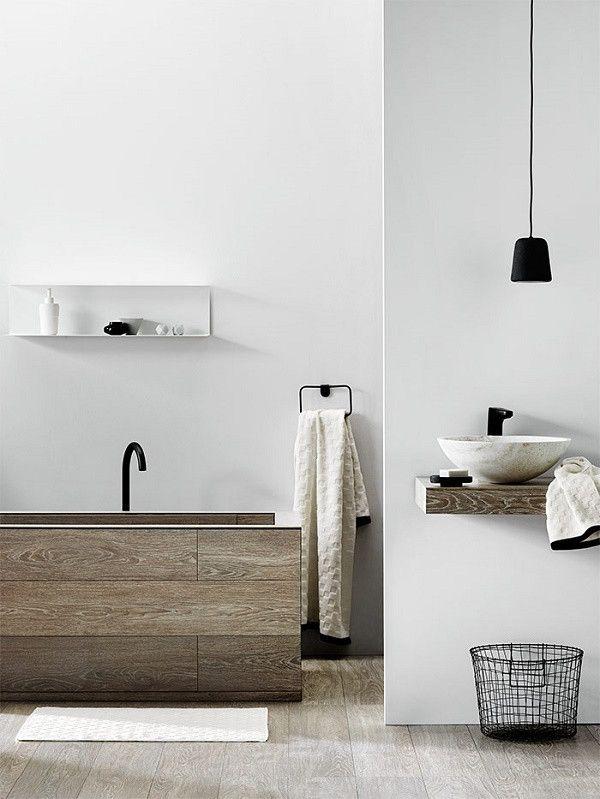 COCOON contemporary bathroom inspiration bycocoon.com | with wood | inox stainless steel bathroom taps | bathroom design products | renovations | interior design | villa design | hotel design | Dutch Designer Brand COCOON