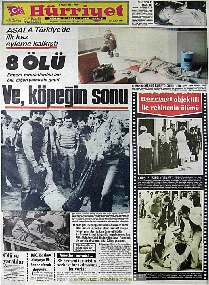 Hürriyet gazetesi 8 ağustos 1982