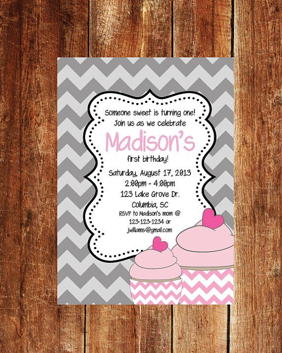 First Birthday Invitation  1st Birthday Invitation  by JoyfulINK, $13.00
