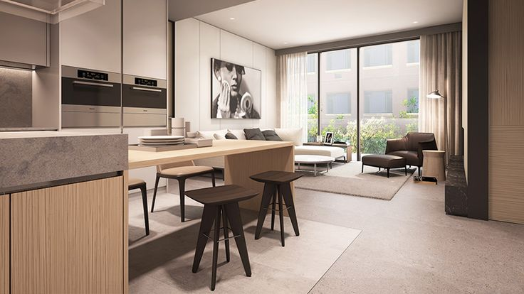 Soori High Line - Type D Unit - Living and Dining areas